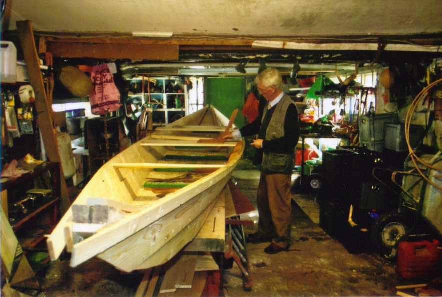 Paddy Building His Boat